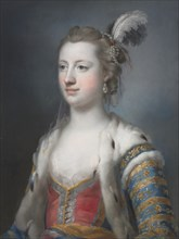 The Right Honorable Lady Mary Radcliffe (1732-1798), Wife of Francis Eyre, Esq., 1755. Creator: Francis Cotes (British, 1726-1770).