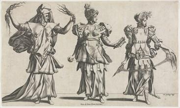 The Three Fates, Costume Designs, c. 1534. Creator: Pierre Milan (French).