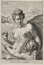 Venus and Cupid, c. 1595. Creator: Jan Saenredam (Dutch, 1565-1607).