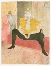 Elles: The Seated Clown, Mlle Cha-u-Ka-o , 1896. Creator: Henri de Toulouse-Lautrec (French, 1864-1901).