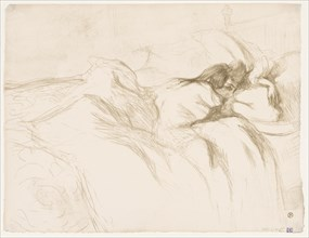 Elles: Woman Sleeping, 1896. Creator: Henri de Toulouse-Lautrec (French, 1864-1901).