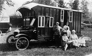 1920 Morris Oxford camper van conversion by Hutchings. Creator: Unknown.