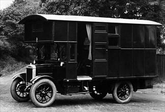 1925 Morris 1 ton camper van conversion by Hutchings. Creator: Unknown.