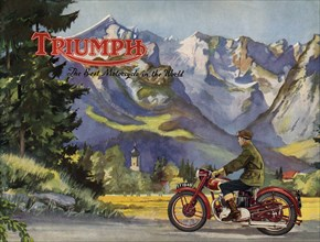 1948 Triumph 5T speed twin brochure. Creator: Unknown.