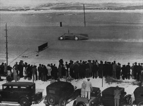 Bluebird on run at Daytona 1935. Creator: Unknown.