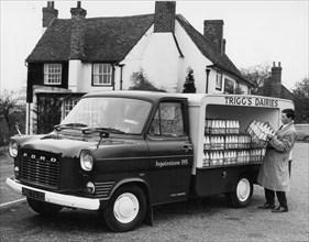 1967 Ford Transit milk float. Creator: Unknown.