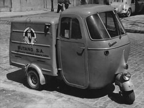 1962 Vespacar 3 wheel van. Creator: Unknown.