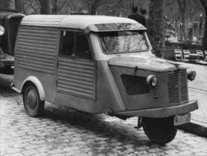 1956 Mymsa 3 wheel van. Creator: Unknown.