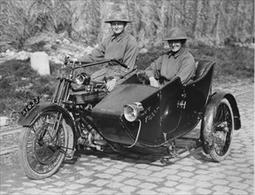 1917 Royal Enfield with sidecar for Military. Creator: Unknown.