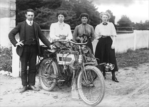 1911 Minerva 3.5 hp motorcycle. Creator: Unknown.