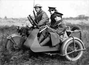 1940 Norton G33 Bren Gune sidecar military. Creator: Unknown.