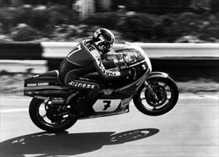 1975 Suzuki 500cc, Barry Sheene at Mallory Park. Creator: Unknown.