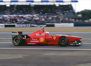 Ferrari F310, Eddie Irvine, 1996 British Grand Prix, Silverstone. Creator: Unknown.