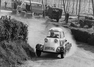 Messerschmitt, K.Piper at Bodiam hill climb 1961. Creator: Unknown.