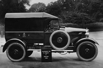 1925 Lea Francis Metropolitan Police van. Creator: Unknown.