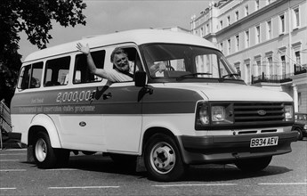 The 2 millionth Ford Transit minibus for schools with Dr David Bellamy. Creator: Unknown.