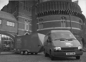 1991 Ford Transit van and trailer. Creator: Unknown.
