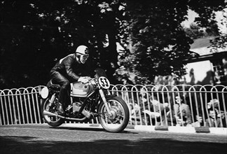 AJS, Armstrong 1951 Isle of Man Tourist Trophy Race. Creator: Unknown.