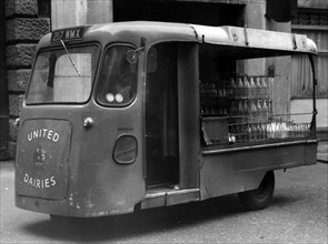 1962 Wales & Edwards electric milk float. Creator: Unknown.