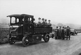 1920 Garrett electric truck. Creator: Unknown.