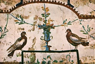 Decoration in the Catacombs of Praetextatus on the Via Appia, Rome, Italy, (1928). Creator: Unknown.
