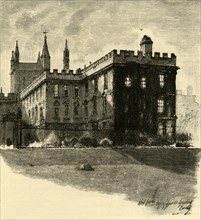 'New College, from the Gardens', 1898. Creator: Unknown.