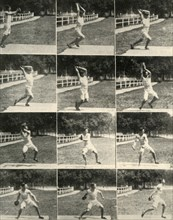 Throwing the discus without turning, 1908. Creator: Unknown.