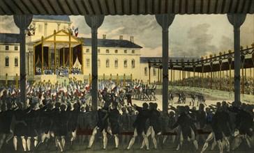 'Vue intérieure de l'Assemblée du Champs-de-Mai...', 1815, (1921). Creator: Jean Pierre-Marie-Jazet.