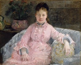 The Pink Dress (Albertie-Marguerite Carré, later Madame Ferdinand-Henri Himmes), ca. 1870. Creator: Berthe Morisot.