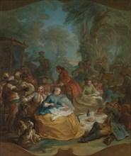 Halt of the Hunt, ca. 1737. Creator: Carle van Loo.