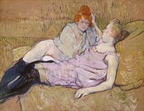 The Sofa, ca. 1894-96. Creator: Henri de Toulouse-Lautrec.