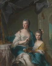 Madame Marsollier and Her Daughter, 1749. Creator: Jean-Marc Nattier.