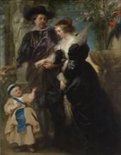 Rubens, His Wife Helena Fourment (1614-1673), and Their Son Frans (1633-1678), ca. 1635. Creator: Peter Paul Rubens.