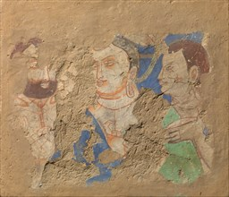 Buddha with Two Disciples, ca. 6th-7th century. Creator: Unknown.
