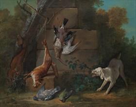 Dog Guarding Dead Game, 1753. Creator: Jean-Baptiste Oudry.