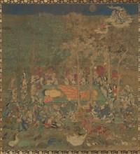 Death of the Historical Buddha (Nehan-zu), 14th century. Creator: Unknown.