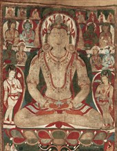 The Buddha Amitayus Attended by Bodhisattvas, 11th or early 12th century. Creator: Unknown.