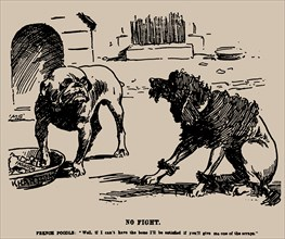 No Fight. Cartoon on the Fashoda Incident, 1898. Creator: Staniforth, Joseph Morewood (1864-1921).