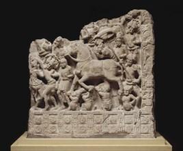 The Great Departure of Siddhartha Gautama, 2nd cen. AD. Creator: Indian Art.