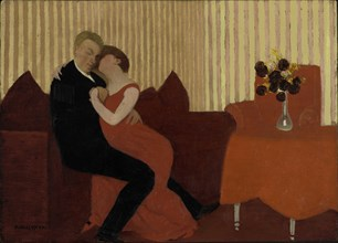The Lie (Le Mensonge), 1897. Creator: Vallotton, Felix Edouard (1865-1925).