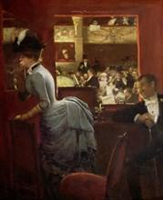 La Baignoire, au théâtre des Variétés (The Theatre Box at the Variety) , 1883. Creator: Béraud, Jean (1849-1936).