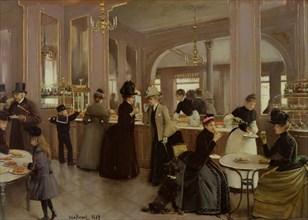 La pâtisserie Gloppe, Champs Elysees, 1889. Creator: Béraud, Jean (1849-1936).