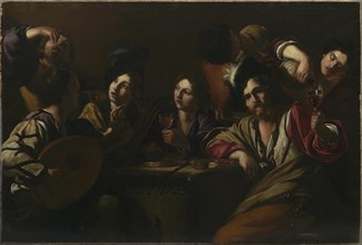 Tavern Scene, ca 1619. Creator: Manfredi, Bartolomeo (1587-1622).