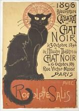 Réouverture du Cabaret du Chat Noir, 1896. Creator: Steinlen, Théophile Alexandre (1859-1923).