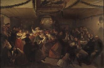 The Wedding in Vingåker, 1857. Creator: Wallander, Josef Wilhelm (1821-1888).