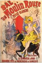 Bal du Moulin Rouge, 1889. Creator: Chéret, Jules (1836-1932).