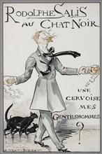Rodolphe Salis au Chat Noir, c. 1890. Creator: Tiret-Bognet, Georges (1855-1935).