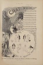 Story of the Famous Cabaret Le Chat Noir, Le Chat Noir magazine, 1884. Creator: Steinlen, Théophile Alexandre (1859-1923).