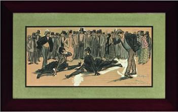 La Goulue and Valentin le Désossé at a Ball in the Moulin Rouge  , 1890. Creator: Steinlen, Théophile Alexandre (1859-1923).