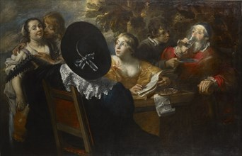 The merry company (The Five Senses) , Mid of 17th cen.. Creator: Cossiers, Jan (1600-1671).